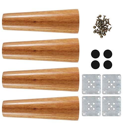 Wakauto 1 Set Massivholz Möbel Sofa Beine Ersatz Holz Sofa Couch Bank Stuhl Ottomane Couchtisch Beine Möbel Füße Quadrat Brötchen Fuß für Zuhause 15X4. 7Cm