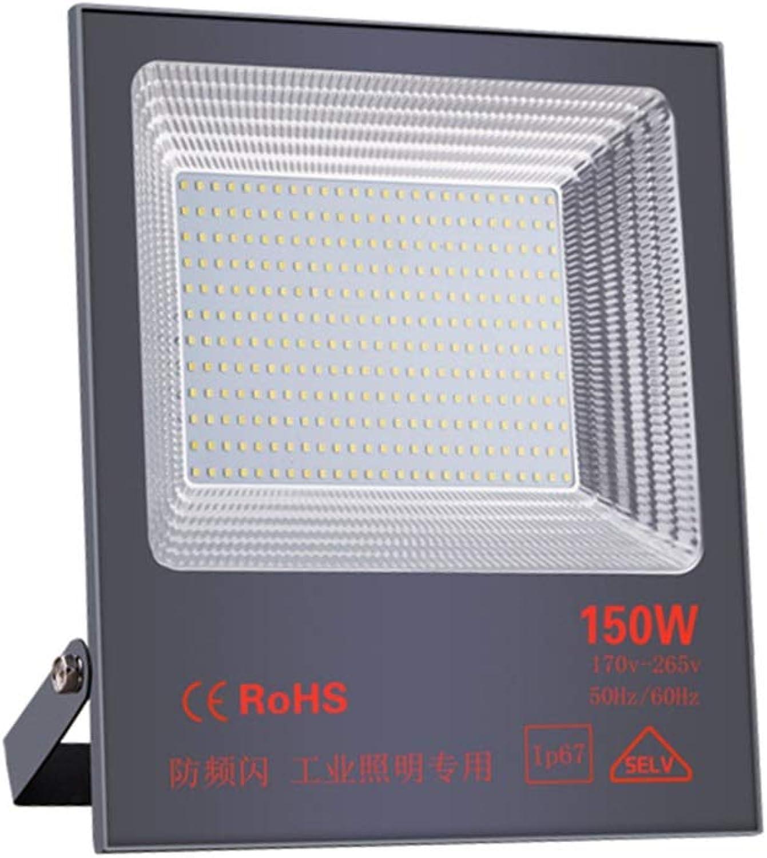 Q-floodlightS Csndice Home Strahler Mit,Wasserdichte Baustelle-Scheinwerfer-Tunnel-Technik Hochleistungssicherheitslicht IP65 66 (gre   150W)
