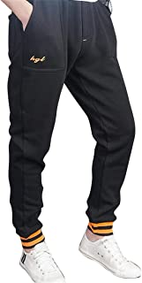 BOBOYU Mens Lounge Pants Trousers Sport Drawstring Letter Print Elastic Waist Jogger Pants