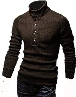 [ Smaids x Smile (スマイズ スマイル) ] ハイネック ニット セーター トップス タートル 長袖 ボタン 無地 メンズ