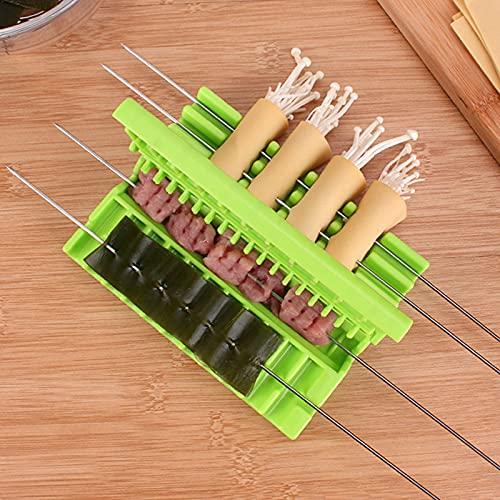 surfsexy Szaszłyki Kebab Maker Mięso Szaszłyk Narzędzia Grill Stringer Ręczne warzywa Jedzenie Sznurek Kuchnia Gadget Łatwy w noszeniu Maszyna do mięsa Grill Akcesoria kuchenne Narzędzia