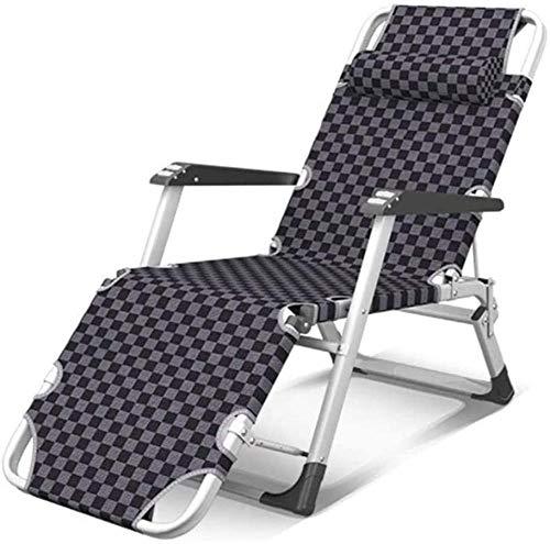 Sun Lounger Gartenstühle Folding Lounge Chair Mittagessen Break Nap Stuhl Einzelne Sommer Home Freizeit Büro Ultraleichte Tragbare Stuhl Schwere Textoline Zero Schwerkraftstühle-St