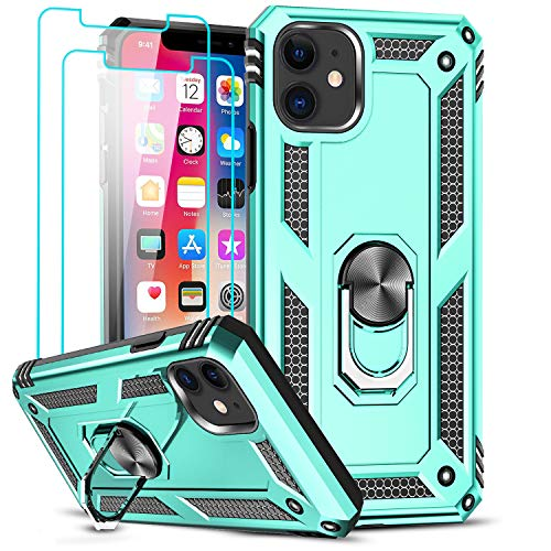 iPhone se Case iPhone 5s Case LeYi Military-Grade Armor Full-Body Hybrid Dual Layer Protective Phone Cover Case with 360 Degree Rotating Holder Kickstand for iPhone 5//5s//se JSFS Blue iPhone 5 Case
