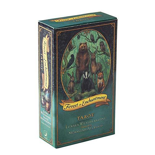 XSWL 78 Stück Tarotkarte, Forest of Enchantment Card Deck Spielkarten Für Anfänger (Englische Ausgabe)