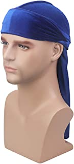 Premium Velvet Durag 360, 540,720 Waves Extra Long Tail and Wide Straps Outside Seams Triple Stitch for Du-RAG