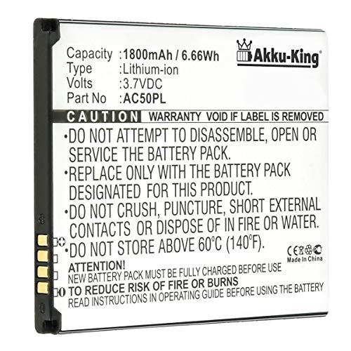 Akku-King Akku kompatibel mit Archos AC50PL - Li-Ion 1800mAh - für Archos 50, 50 Helium 4G, 50 Platinum