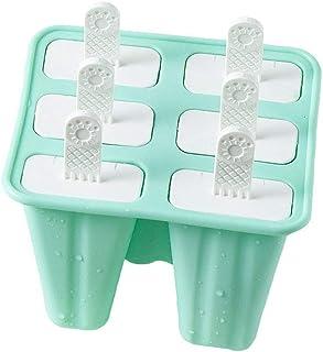 Molde de silicona para helados, molde de helado, reutilizable, para hacer helados verde