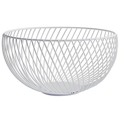 Fruit Bowl Favourall Housewares - Frutero de alambre (metal cromado, 26 x 14 cm) blanco