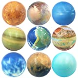 Dreamm Solar System Stress Balls for Kids and Adults Set of 9,Stress Relief Planets Toys Outer Space Astronomy Educational Balls Toys for Party Favors Birthday Gift