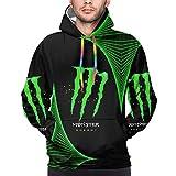 Mon-ster E-Nergy Men's Hoodie Adult Pullover Long Sleeve Sweatshirt Sweater Sweater Xl Black