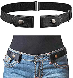 No Buckle Stretch Elastic Waist Belt Buckle-Free Belt For Women Men Adjustable Belt Buckle Free Invisible Waist Belt for J...