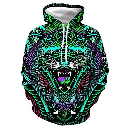 DREAMING-Pullover long sleeve T-shirt + legged pants sportswear 2-piece 3D printing hooded loose casual bodywear bodywear pair suit Small