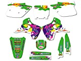 1992-1993 KX 125/250 (2-Stroke), Throwback Green Complete Graphics Kit, by Senge Graphics Inc, Compatible with Kawasaki