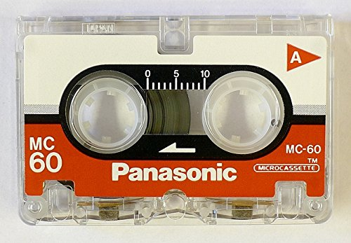 Panasonic Microcassette MC-60 Tape - 3-Pack (RT-603MC)