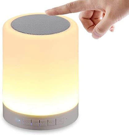 DEVCOOL LED Touch Lamp Bluetooth Speaker, Wireless HiFi Speaker Light, USB Rechargeable Portable with TWS for Party Festival Camping, Different Lighting Modes