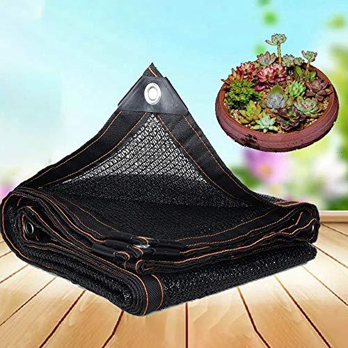 Außen Schatten Stoff Streifen Sonnenschutz Markise Atmungsaktive Schatten Segel for Blumen, Garten, Balkon, Pflanzen schattierungsnetz (Farbe : Schwarz, Größe : 3x2.5m)