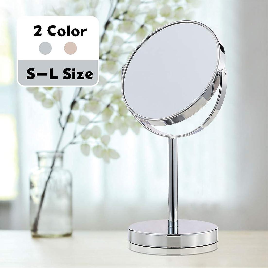 合わせて蛇行どこか(セーディコ) Cerdeco シンプルデザイン 真実の両面鏡DX 5倍拡大鏡 360度回転 卓上鏡 スタンドミラー メイク 化粧道具 鏡面148mmΦ J622