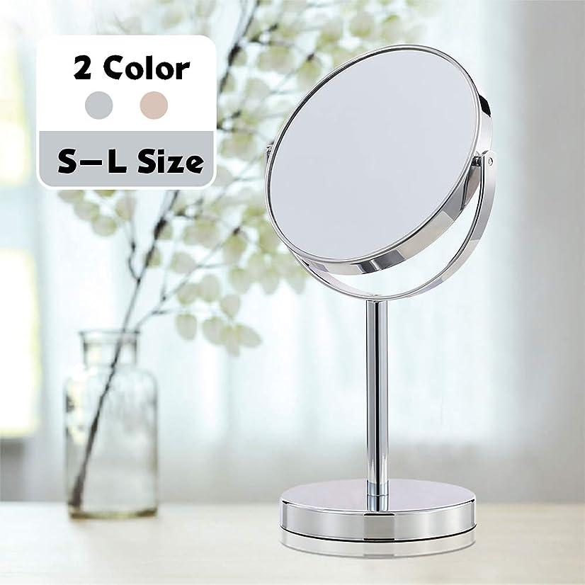 エラーインフルエンザチャーミング(セーディコ) Cerdeco シンプルデザイン 真実の両面鏡DX 5倍拡大鏡 360度回転 卓上鏡 スタンドミラー メイク 化粧道具 鏡面148mmΦ J622