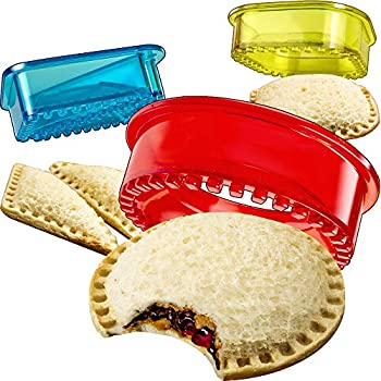 Sandwich Cutter and Sealer - Decruster Sandwich Maker - Cut and Seal - Great for Lunchbox and Bento Box - Boys and Girls Kids Lunch - Sandwich Cutters for Kids