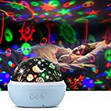 Upgrow Baby Night Light, 2 in 1 LED Starry Light Projector Lamp Ocean
