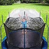 Hydrogarden Trampolin Sprinkler Trampolin Spray Wasserpark Spaß Sommer Outdoor Wasserspiel Trampolin Zubehör, zum Anbringen am Trampolin Sicherheitsnetz Gehäuse (15m)