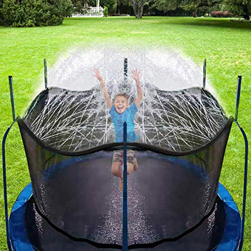 CT Trampolin Sprinkler Trampolin Spray Wasserpark Spaß Sommer Outdoor Wasserspiel Trampolin Zubehör, zum Anbringen am Trampolin Sicherheitsnetz Gehäuse (10m)
