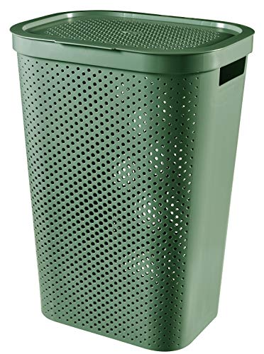 CURVER Hamper Infinity Recycled Baúl para la Colada, Verde, 59