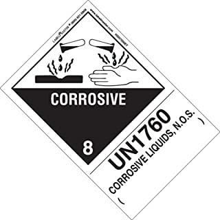 Labelmaster HSN7000ET Corrosive Label, UN1760 Corrosive Liquids N.O.S, Hazmat, 5.9