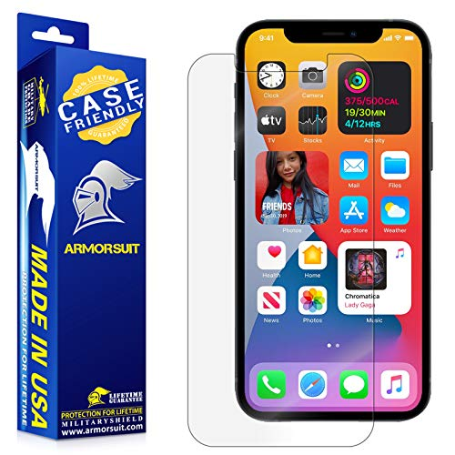 """ArmorSuit MilitaryShield Screen Protector Designed Compatible with iPhone 12 Pro Max (6.7"""") 5g Case Friendly Anti-Bubble HD Clear Film"""
