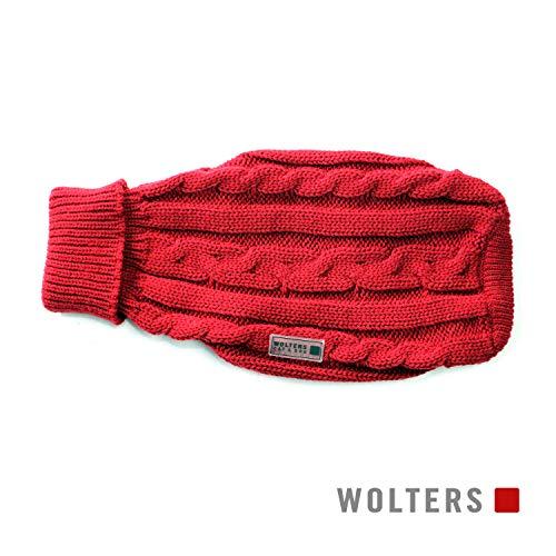 Wolters | Zopf-Strickpullover - rot | Rückenlänge 30 cm