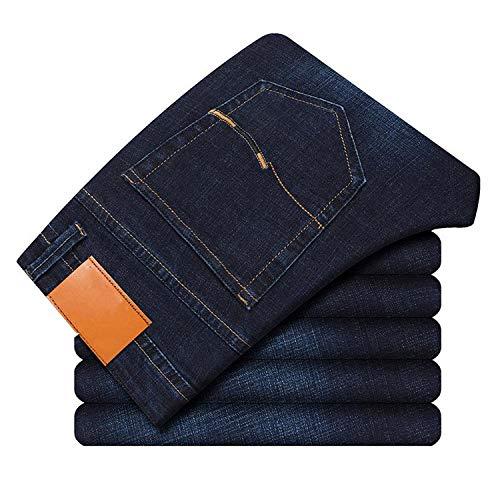 Neue Herren Slim Elastisch Jeans Business Classic Style Skinny Jeans Denim Hosen Männer 5 Modell Gr. W28, 1110 Blue Black
