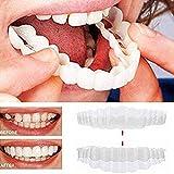 GBBG 2 pièces réutilisables Adultes Confiant Snap Sourire Comfort Fit Flex Cosmetic Dents Dents prothétiques Top cosmétiques placage Taille (Haut + Bas)