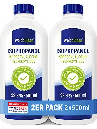 Isopropylalkohol 99,9{3fc7f7cc6afb9cc9b34b02d40c24291f06a48d69a6d9142b57473d14e77d5737} Reiniger Alkohol Isopropanol - 2x 500ml