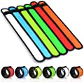 YOHOTA LED Glow Slap Bracelets Light Up Wristbands Flashing Arm Wrist Bands High Visibility Safety Gear Lights for Cycling,Walking,Running,Concert Camping,Outdoor Sports