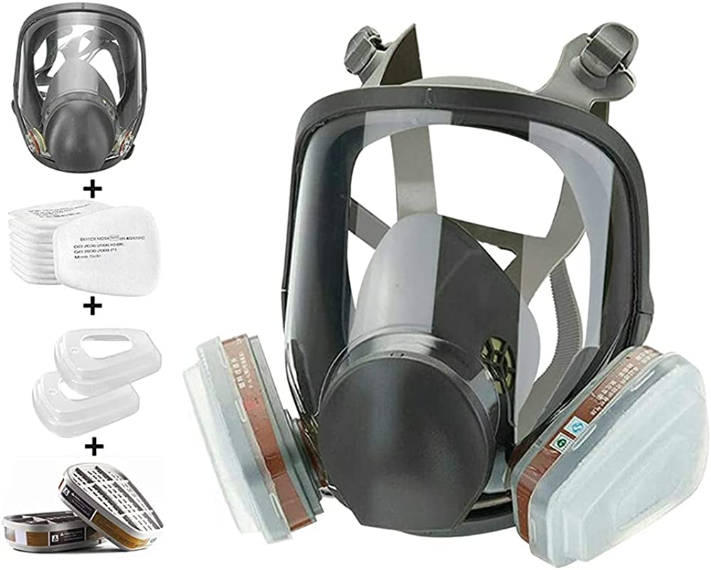 15 shopping in 1 Reusable Full Cover Wide Fiel Face New Orleans Mall Respirator