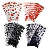 WINOMO Bolsas de Envoltorio de Dulces 200 Unidades de Envoltorios de Celofán de Halloween Bolsas de Almacenamiento de Dulces Portátiles Bolsas de Regalo para Dulces Caseros (Color Mixto)