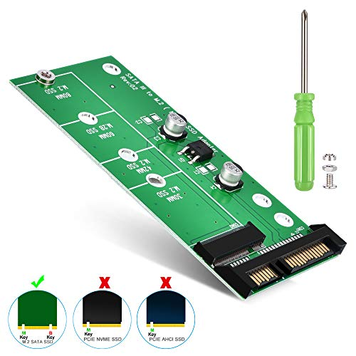 ELUTENG M.2 SATA Adapter 22-Pin(7+15) SATA III NGFF M.2 SATA-Based Key B/B + M für 2280 2260 2242 2230mm SSD 6Gbps M2 NGFF SATA Adapter for Laptop Desktop