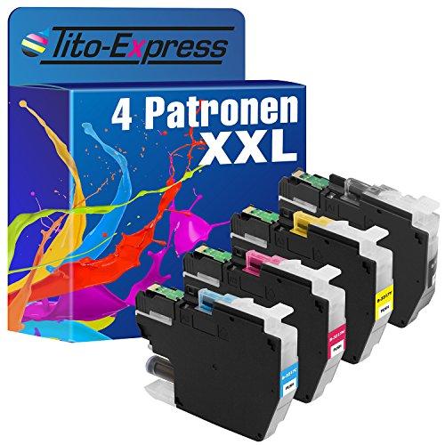 Tito-Express PlatinumSerie 4 Tinten-Patronen XXL als Ersatz für Brother LC3217 | Für MFC-J6935DW MFC-J5730DW MFC-J6930DW MFC-J5330DW MFC-J5335DW MFC-J5330DW MFC-J6530DW MFC-J5930DW