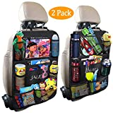 JALIELL Car Back Seat Organizer for Kids Car Organizer with 10' Touch...