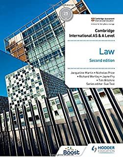 Cambridge International AS and A Level Law Second Edition