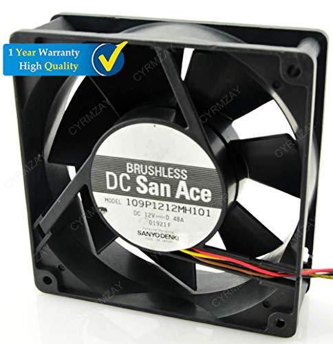 CYRMZAY Compatible para SANYO 109P1212H101 12V 0.48A 12CM 12038 4-Cable Gale Volume Ventilador