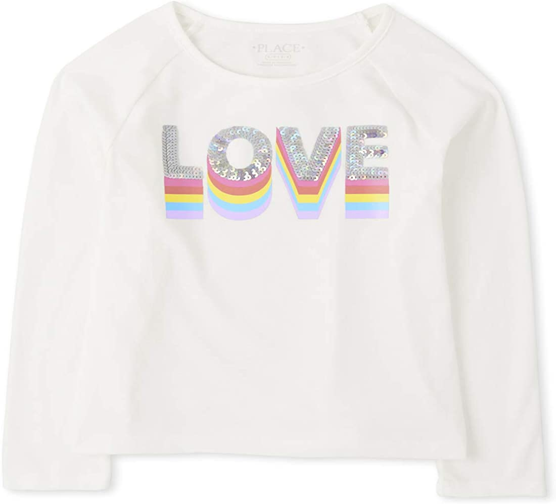 The Children's Place Girls' Long Sleeve Graphic Top