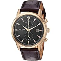 Citizen Eco-Drive Corso Leather Chronograph Men's Watch
