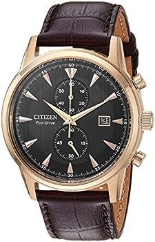 Citizen Eco-Drive Corso Leather Chronograph Men's Watch