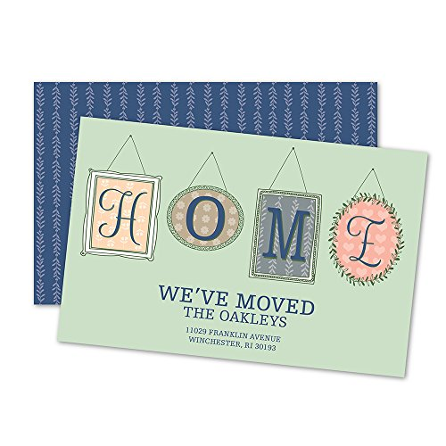 Picture Frames Personalized Moving Announcement - Navy