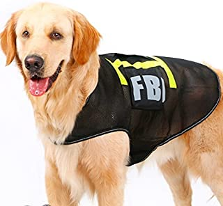 Colorfulhouse® FBI Pet Costume for Large Dogs Breathable Mesh Police Dog Vest