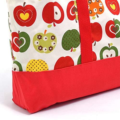 COLOFULCANDYSTYLE(カラフルキャンディスタイル)『レッスンバッグマチ付きおしゃれリンゴのひみつ(アイボリー)』