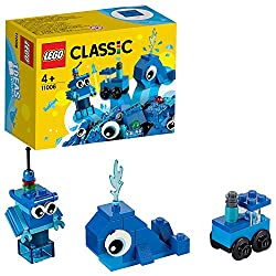 Features a blue whale toy with big round eyes and a waterspout, a train toy with revolving wheels, and a mini robot toy with movable arms The 3 easy-to-build toys with fun features can be assembled simultaneously with this big bricks starter set for ...