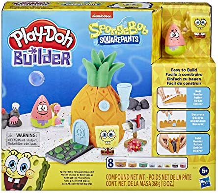 Play Doh Builder Spongebob Squarepants Pineapple House Toy Building Kit for Kids 5 Years and product image