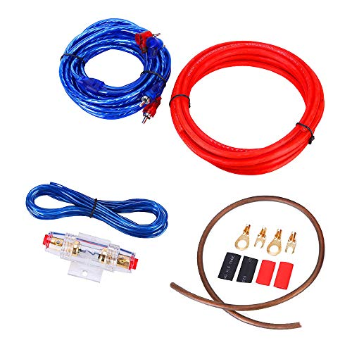 Mintice Auto Versterker Bedrading Kit Audio Subwoofer AMP RCA Power Cable ﺮFUSE 14 Gauge GA AWG draad Installeer Connector Houder Automotive Van